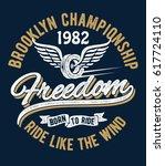 vintage brooklyn championship... | Shutterstock .eps vector #617724110