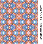 abstract colorful tile pattern  ... | Shutterstock . vector #617725094