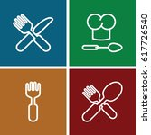 spoon icons set. set of 4 spoon ... | Shutterstock .eps vector #617726540