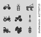 agricultural icons set. set of... | Shutterstock .eps vector #617730713