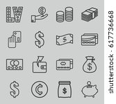 cash icons set. set of 16 cash... | Shutterstock .eps vector #617736668