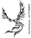 tribal phoenix | Shutterstock .eps vector #617738804