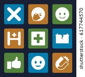 positive icons set. set of 9... | Shutterstock .eps vector #617744570
