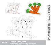 four carrots. dot to dot... | Shutterstock .eps vector #617754038