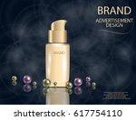 realistic bottles for...   Shutterstock .eps vector #617754110