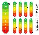 energy efficiency rating. eps10 ... | Shutterstock .eps vector #617756069