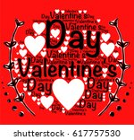 valentine's day words with... | Shutterstock .eps vector #617757530