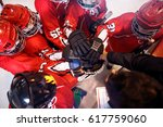 hockey team working on win... | Shutterstock . vector #617759060