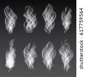 smoke set isolated on... | Shutterstock .eps vector #617759564
