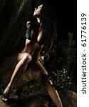 beautiful healthy fit woman in... | Shutterstock . vector #61776139