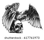 eagle and skull | Shutterstock .eps vector #617761973