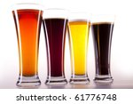 all colors of beer | Shutterstock . vector #61776748