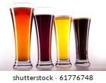 all colors of beer | Shutterstock . vector #61776748