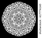 lace round paper doily  lacy... | Shutterstock .eps vector #617776160