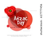 illustration of anzac day with... | Shutterstock .eps vector #617777456