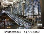 Escalators At The Airport