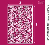 die cut ornamental panel with... | Shutterstock .eps vector #617788478