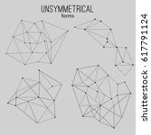unsymmetrical forms   Shutterstock .eps vector #617791124
