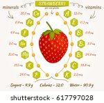 the content of minerals and... | Shutterstock .eps vector #617797028