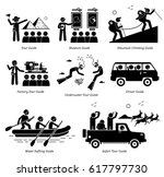 tour guide jobs and careers.... | Shutterstock .eps vector #617797730