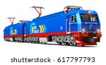 creative abstract rail freight... | Shutterstock . vector #617797793