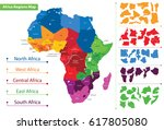 Map Of The Regions Of Africa....