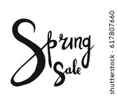 spring sale. hand drawn word.... | Shutterstock .eps vector #617807660