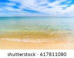 A Beautiful Ocean Beach With...