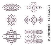 aztec pattern in color. ... | Shutterstock . vector #617812178