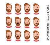 male cartoon characters...   Shutterstock .eps vector #617817353