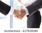 business handshake | Shutterstock . vector #617818280