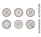 set of four tree rings icons.... | Shutterstock . vector #617819186