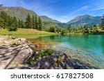 Small Alpine Lake Laux Among...