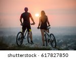 rear view of guy and girl... | Shutterstock . vector #617827850