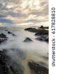 mystical sunrise moment near... | Shutterstock . vector #617828810