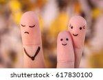 finger art of family during... | Shutterstock . vector #617830100