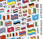 set of world flags pattern.  | Shutterstock . vector #617831399