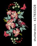 vector embroidery of ethnic... | Shutterstock .eps vector #617833328