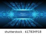 frame circuit board hexagonal... | Shutterstock .eps vector #617834918