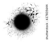 abstract particles explosion.... | Shutterstock .eps vector #617835644