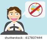 young man driver campaign... | Shutterstock .eps vector #617837444