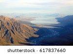 Aerial View Of Tasman Glacier...