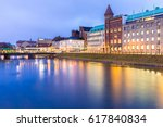 malmo cityscape downtown at... | Shutterstock . vector #617840834