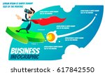 business infographic   a super... | Shutterstock .eps vector #617842550