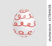 easter egg designed with hand... | Shutterstock .eps vector #617844638