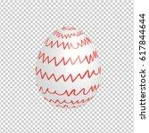 easter egg designed with hand... | Shutterstock .eps vector #617844644