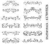 vector illustration set of... | Shutterstock .eps vector #617845826