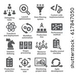 product management icons | Shutterstock .eps vector #617847050