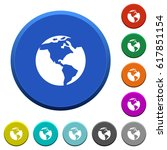 earth round color beveled... | Shutterstock .eps vector #617851154