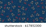 vintage pattern in small... | Shutterstock .eps vector #617852300